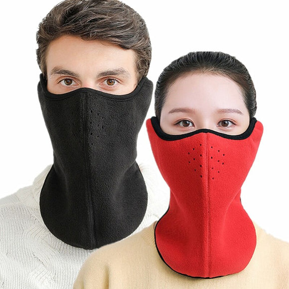 1PC Winter Warm Cycling Half Face Mask Cover Fleece Balaclavas Ski Cycling Bicycle Mask Outdoor Sport Neck Guard Scarf Masks