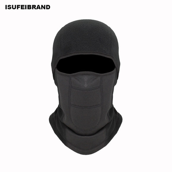 TH05 Winter Thermal Fleece Ski Mask Full Face Cover Snowboard Hood Scarfs Outdoor Sport Windproof Cycling Headgear Balaclava