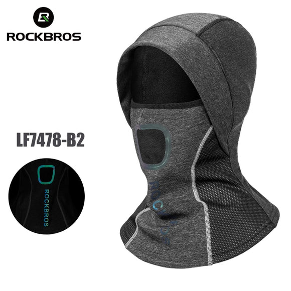 ROCKBROS Winter Mask Thermal Cycling Ski Face Mask Windproof Fleece Neck Warmer Cap Scarf Balaclava Sport Ski Mask Winter