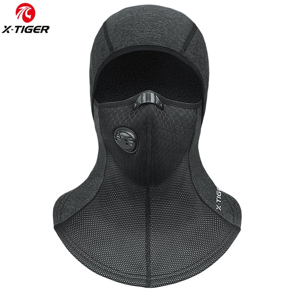 X-TIGER Winter Keep Warm Cycling Face Mask with Filter Ski Cap Fleece Scarf Snowboard Hat Outdoor Skating Bicycle Headwear