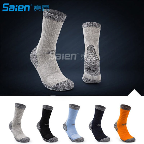 6 Pairs Men's Cushion Crew Socks Outdoor Recreation Performance Trekking Climbing Camping Hiking Socks