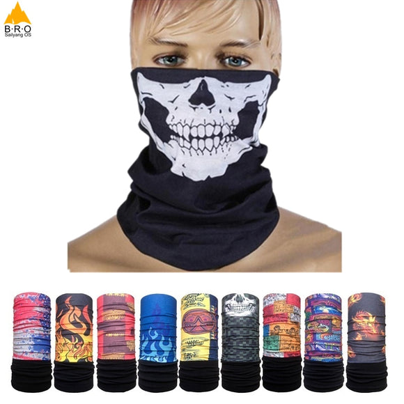 Multifunctional Scarf Cycling Bicycle Bike Face Mask Men Women Thermal Warm Fleece Scarf Neck Warmer Ski Balaclava Hat