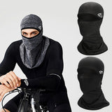 Cycling Face Mask Helmet Liner Warm Fleece Bike Half Face Mask Cover Cycling Ski Sports Outdoor Winter Neck Guard Scarf  Mask