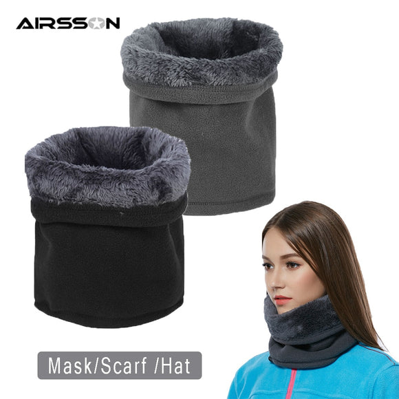Thermal Warm Fleece Scarf Half Face Mask Hat For Cycling Running Climbing Jogging Neck Warmer Women Men Winter Protection Covers