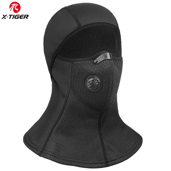 X-TIGER Winter Cycling Face Mask Cap Ski Bike Mask Thermal Fleece Snowboard Hat Keep Warm Cycling Headwear Bicycle Training Mask