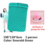 Inflatable Mattress Tent Cushion Air Camping Mats Outdoor 2 person Picnic Beach Mat baby Pad Home Rest Soft Moistureproof