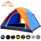 3-4 Person Camping Tent Dual Layer Windbreak Waterproof Anti UV Tourist Tents for Fishing Hiking Beach Travel 3 Season Tent
