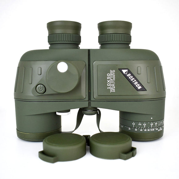 10X50 Optics Military Binocular Telescope Waterproof shockproof Spotting scope with Compass for camping travel hunting boshiren