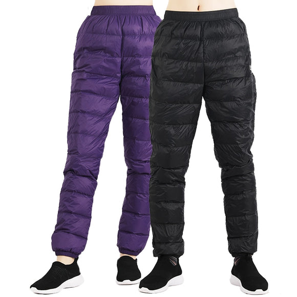 Winter Women Men's Soft Down Pants