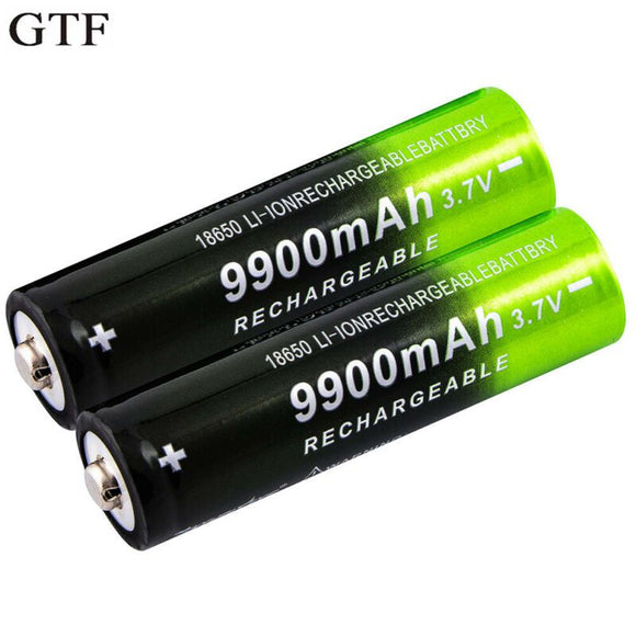 GTF 3.7V 18650 9900mAh Rechargeable Battery High Capacity Li-ion Rechargeable Battery For Flashlight Torch headlamp Battery