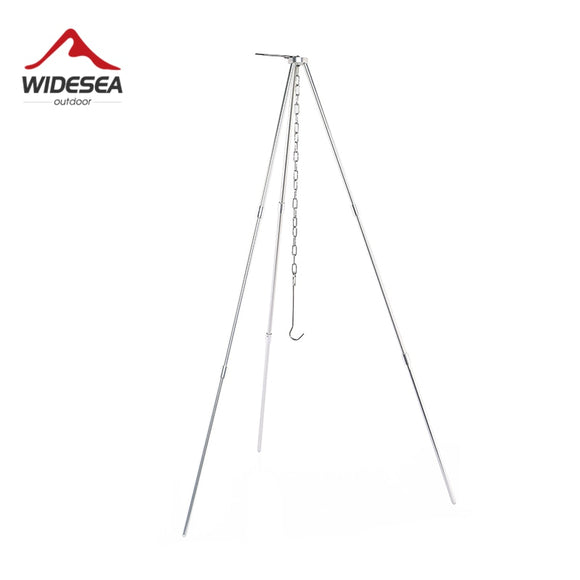 Widesea Camping Tripod for Fire Hanging Pot Outdoor Campfire Cookware Picnic Cooking Pot Grill