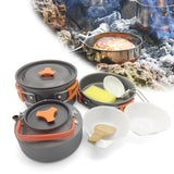8pcs/set Outdoor Camping Cookware Set Portable