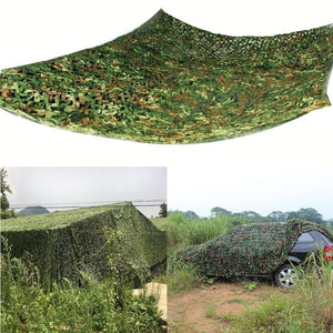 3*4M/3*3M/4*5M Outdoor Hunting Shooting Fishing Camouflage Woodland Jungle Camping Camo Tarp Cover Car Sun Shelter Hide Net