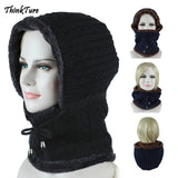 Winter Fleece Thermal Skiing Hat Snowboarding Mask Cover Keep Warm Windproof Hiking Ski Caps Men Women Balaclava Neck Scarf