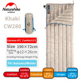 Naturehike 200x80cm 190x72cm Large Ultra Light Down Winter Sleeping Bag