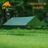 3F UL GEAR Ultralight Tarp Outdoor Camping Survival Sun Shelter Shade Awning Silver Coating Pergola Waterproof Beach Tent