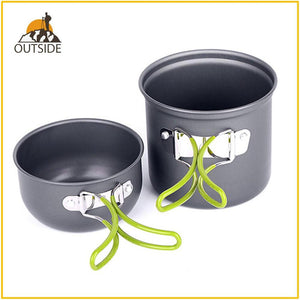 Ultralight Camping Cookware Utensils outdoor tableware set Hiking Picnic Backpacking Camping Tableware Pot Pan 1-2persons