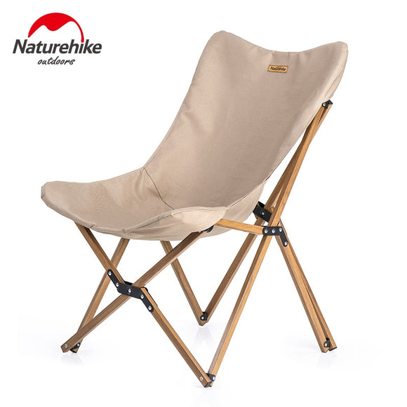 Naturehike Portable Ultralight Camping Chair Outdoor leisure Folding Picnic Chair  Wood Grain Nap Fishing Beach Chair Sea