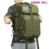 50L 1000D Nylon Waterproof Trekking Fishing Hunting Bag