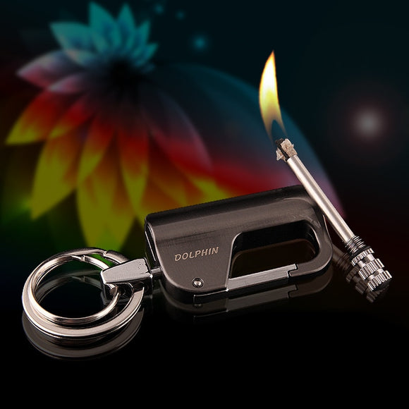Creative 10,000 Times Lighted Match Kerosene Lighter Keychain Multifunctional Outdoor Waterproof Million Matches Fire Starter