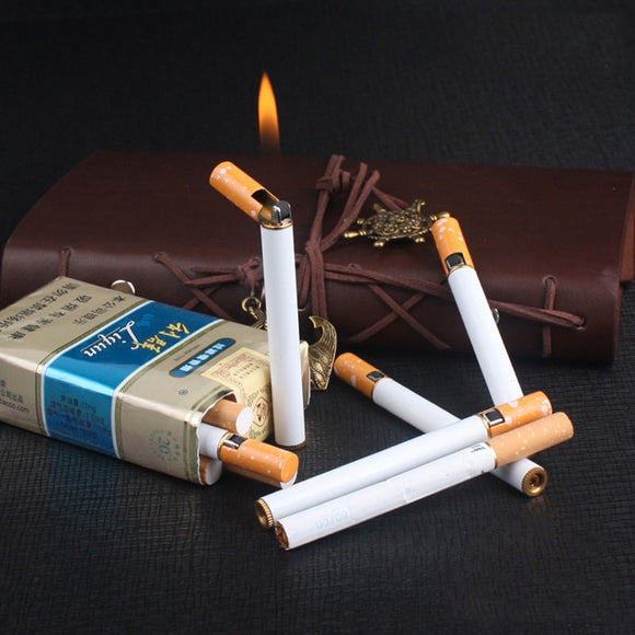 Smoking Accessories Fire Starter Torch Lighter Gadgets For Men Lighter Gas Gasoline Metal Cigarette Shaped Lighter
