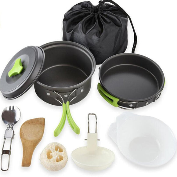 Portable Camping Tableware Cooking Set Outdoor Cookware