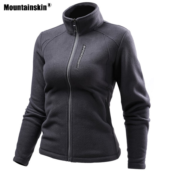 Mountainskin Men Women Hiking Fleece Jackets Outdoor Sports Thermal Windbreaker Climbing Camping Trekking Skiing Male Coat VA661