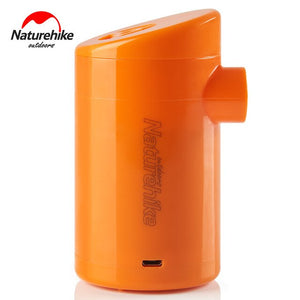 Naturehike Portable Rechargeable Air Pump for Inflatable Sleeping Pad Camping Mattress Outdoor Mat Camp Bed Travel Pillow NH