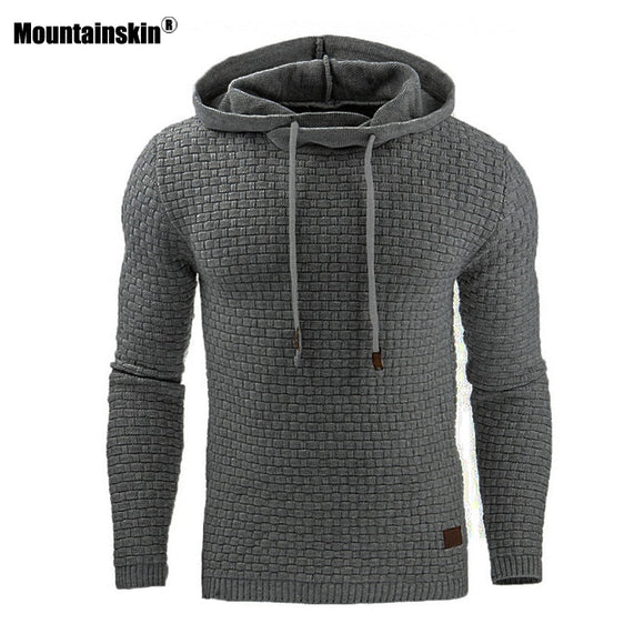 Mountainskin 5XL Hoodies Men Hoody Male Long Sleeve Solid Color