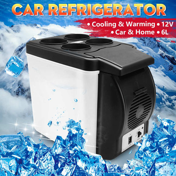 6L Mini Home Camping Fridge Electric Cool Box Cooler and Warmer 12V Travel Portable Box Freezer for Car Auto Truck