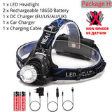 IR Sensor Headlight USB Rechargeable V6/L2/T6 Induction LED Headlamp Fishing Head Light Lamp Lantern Waterproof By 18650 Battery