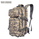 WAR GROUND Outdoor Molle Military Tactical 1000D Nylon Backpack 30L  Hiking Trekking Camping Outdoor Bag Hunting  Camouflage Bag