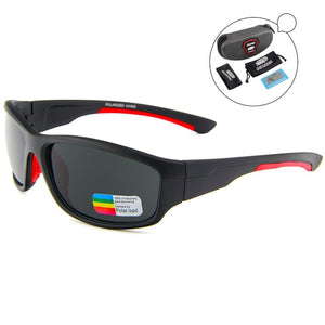 QUESHARK UV400 Men Polarized Fishing Sunglasses