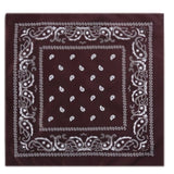 outdoor Bandana Square Scarf 55cm*55cm Black Red Paisley Headband Printed For Women/Men/Boys/Girls