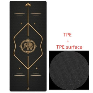 New Design TPE Yoga Mat 183*68cm Fitness Yoga Mat Suede Non-slip Losing Weight Pilates Yoga Pad Gym Sports Camping Exercise Mat