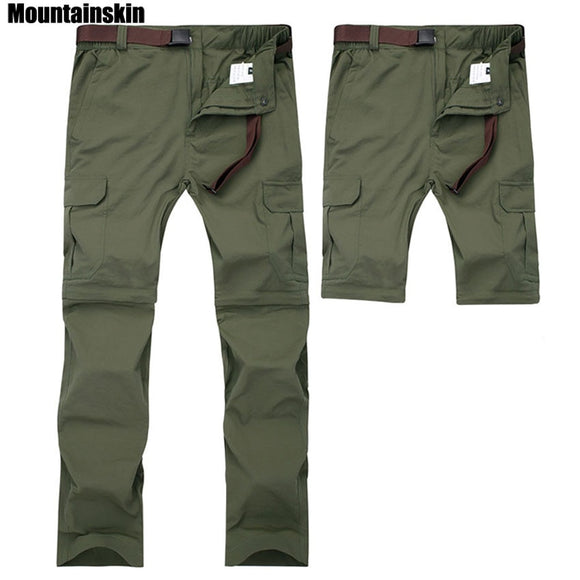 Men's Summer Quick Dry Removable Pants Breathable Trousers