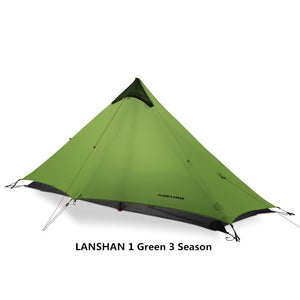 2019 LanShan 2 FLAME'S CREED 2 Person Outdoor Ultralight Camping Tent 3 Season Professional 15D Silnylon Rodless Tent