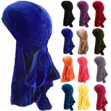 Hot Sales Unisex Men Women Velvet Breathable Bandana Hat Turban Doo Durag Cap US