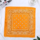 1PC Newest 100% Cotton Hip-hop Bandanas For Male Female Head Scarf Scarves Wristband Vintage Pocket Towel Hot Selling 55*55cm