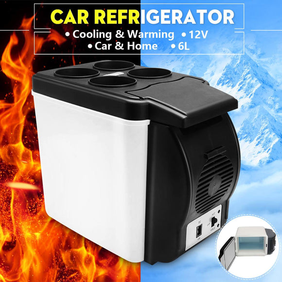 12V 45W 6L Auto Car Mini Fridge 2 In 1 Free-standing Less Noise Car Refrigerator Portable Geladeira for Cars Van Coche Camping