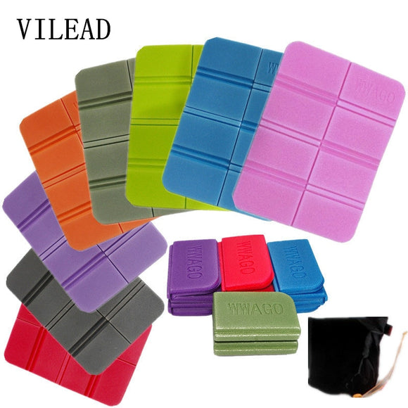 VILEAD New XPE 8 Folder Camping Mat Folding Portable Small Cushion Moisture-Proof Waterproof Prevent Dirty Picnic Mat  Beach Pad
