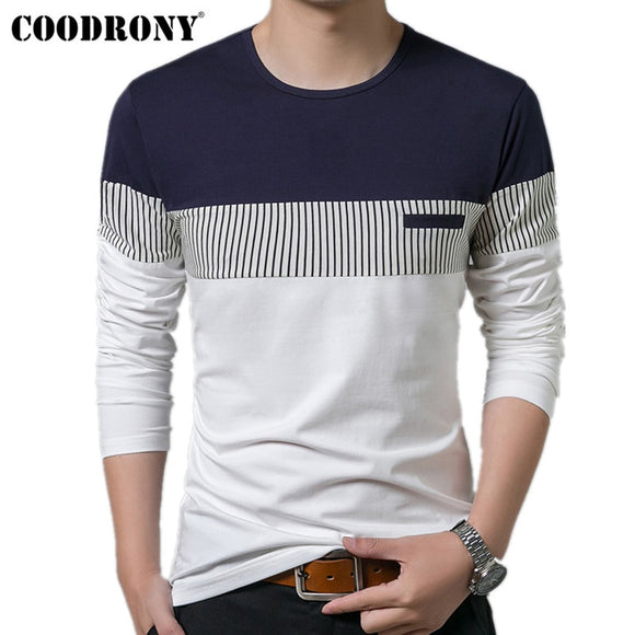COODRONY T-Shirt Men 2019 Spring Autumn New Long Sleeve O-Neck T Shirt