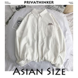 Privathinker Men Solid Shirt Long Sleeve 2020 Man Korean Fashions Monday Embroidery Shirt Male Streetwear Spring Women Shirts