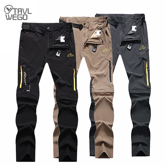 Men's Camping Hiking Pants Trekking High Stretch Summer Thin Waterproof Quick Dry