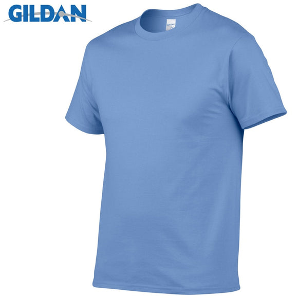 GILDAN Solid color T Shirt Mens Black And White 100% cotton T-shirts