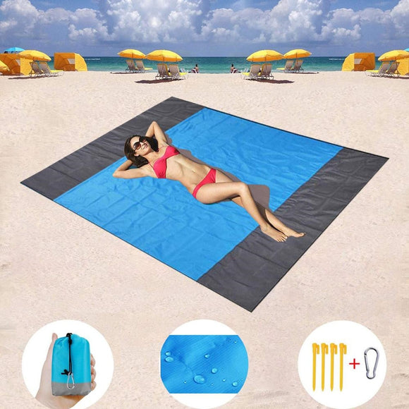 Portable Picnic Beach Mat Pocket Blanket Waterproof Beach Mat Blanket Ground Mat Mattress Outdoor Picnic Camping Tent Mat