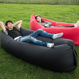 Camping Inflatable Sofa Outdoor Lazy Bag Ultralight Beach Camping Travel Sleeping Bag Air Bed Lounger Chair Sleep Camp Bag X1++A