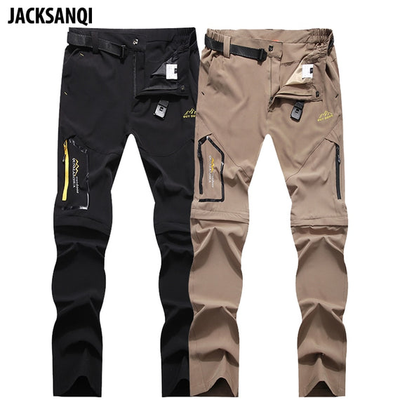 JACKSANQI Men's Summer Quick Dry Hiking Removable Pants