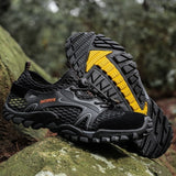 Men Mesh Aqua Shoes Outdoor Professional Non-slip Durable Trekking Upstream Shoes Male Cool Hiking Wading Water Sports Sneakers