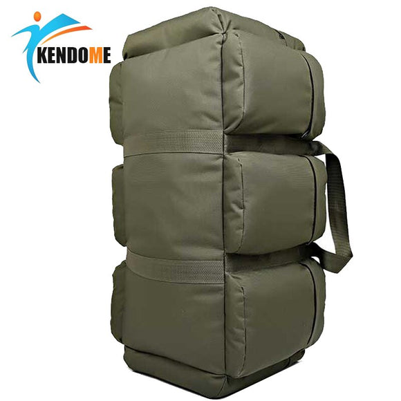 Hot 90L Large Capacity Men's Military Tactical Backpack Waterproof Oxford Hiking Camping Backpacks Wear-resisting Travel Bag